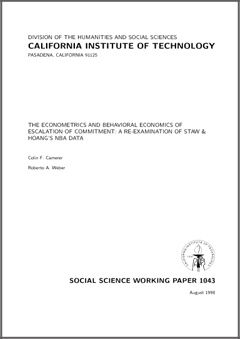 behavioral economics research papers