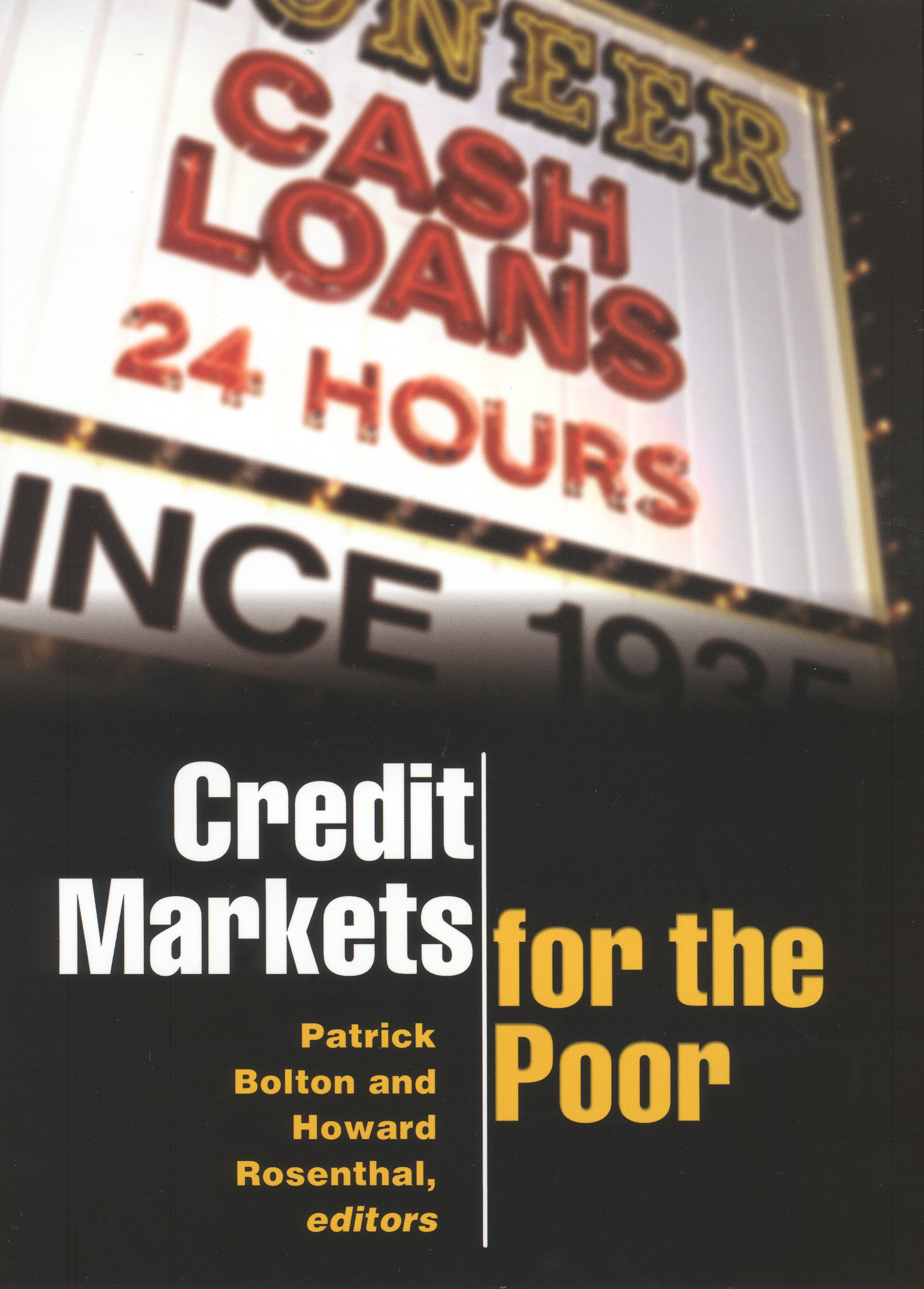 Credits Markets for the Poor