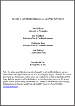 social justice childhood inequality Inequality is at the core of most sociological inquires the concentration in inequality and social justice examines the causes and consequences of inequalities based on class, gender, race/ethnicity, disability, age, and sexual orientation.